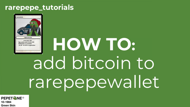 how to use rare pepe wallet